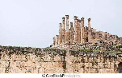 Artemis temple in ancient town Jerash