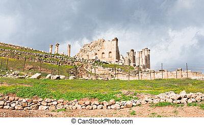 Artemis temple in town Jerash