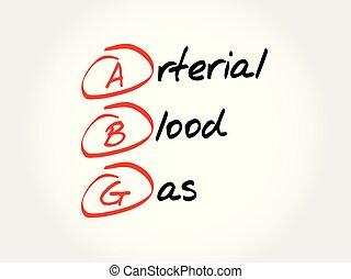 arterioso, abg, acronimo, gas, -, sangue