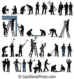 artesãos, profissionais