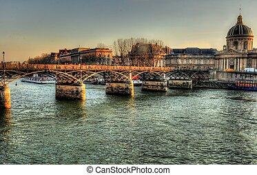 artes des pont, ponte, paris, frança