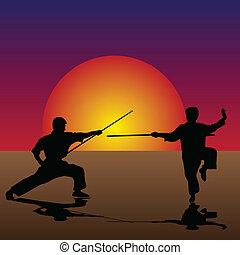 artes marciais, crepúsculo