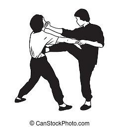 artes marciais, ilustração