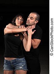 artes marciais, instrutor, femininas