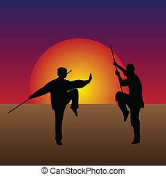 artes marciales, crepúsculo