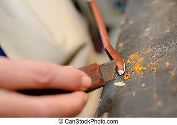 artes y artes, herramientas, artistas, cepillo