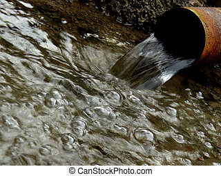 artesian water stream - stream of artesian water from the ...