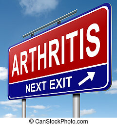 Arthritis concept. - Illustration depicting a roadsign with ...