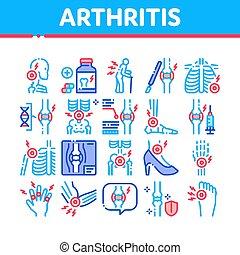 Arthritis Disease Collection Icons Set Vector