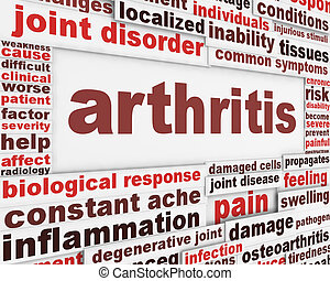 Arthritis disease poster concept. Joint disorder medical...