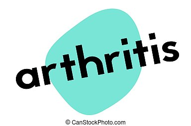 ARTHRITIS sticker stamp