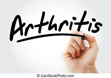 Arthritis text with marker