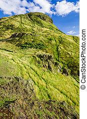 arthur's, ecosse, siège, vert, edimbourg, vue