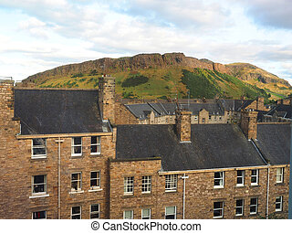 Arthur's Seat mountain hiking trail  Holyrood Park Edinburgh Scotland
