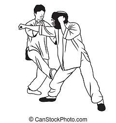 arti marziali, illustrazione