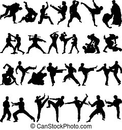 arti marziali, vario, posizioni