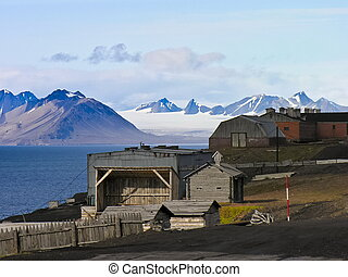 Artic rural housing landscape - Rural huts and housing...