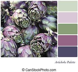 Artichoke palette - Artichoke background colour palette with...