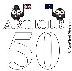 Article 50 UK exit from the European Union - Comical Article...
