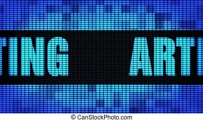 Article Marketing Front Text Scrolling LED Wall Pannel Display Sign Board