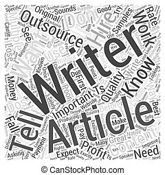 Article Outsourcing Dos and Donts Word Cloud Concept