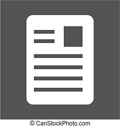 Article, page, document, data icon vector image. Can also be...