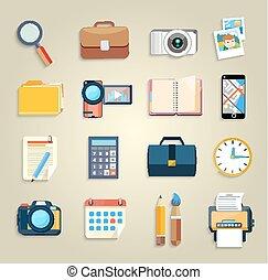 articles, commercialisation, business, icônes bureau