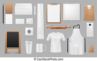 articles, cuisine, équipement, boulangerie, café, ou, cuisine