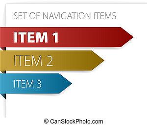 articles, moderne, navigation