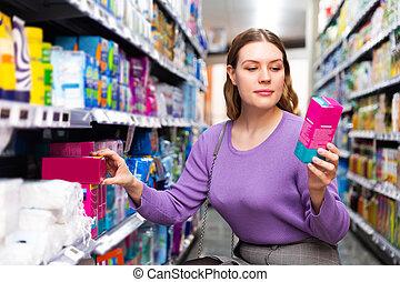 articles, personnel, tenue, femme, hygiène, supermarché