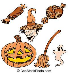 articolo, set, halloween