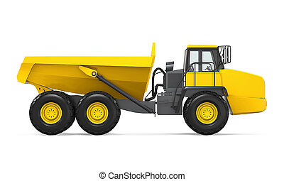 Articulated Dump Truck Isolated