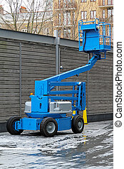 Articulating boom lift - Blue articulated boom lift for...