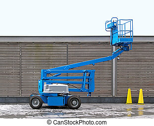 Articulating boom - Blue articulated boom lift for...