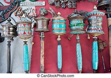 artifact., ruota preghiera