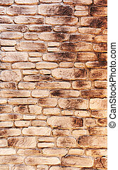 artificail stone wall, stained