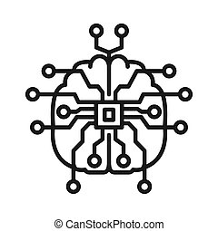 artifical, intelligentie, illustratie, ontwerp