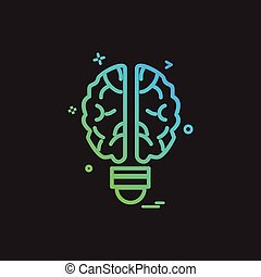 Artificial brain intelligence icon vector design