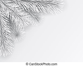 artificial Christmas tree branch white