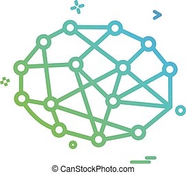 Artificial circuit ic intelligence icon vector design