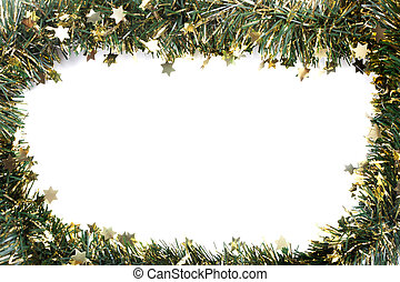 Artificial fir branch garland with tinsel. Formed to...