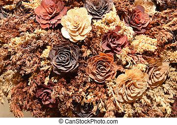 artificial flower bouquet - artificia brown flower bouquet
