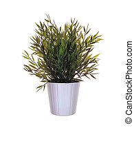 Artificial flower plant in pot