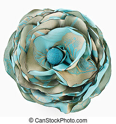 Artificial flower - Artificial green flower of silk isolated...