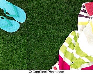 Artificial Grass - A close up shot of artificial grass