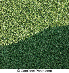 Artificial grass fake turf synthetic lawn field macro closeup