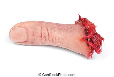 artificial human finger cut out from hand, minimal natural...