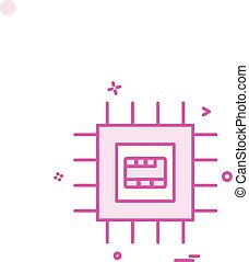 Artificial ic intelligence icon vector design
