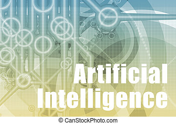 Artificial Intelligence Abstract Background in Blue Color