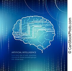 Artificial intelligence, brain and circuits